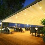 rayli tente isikli model 150x150 Mafsallı Tente Metre Fiyatları