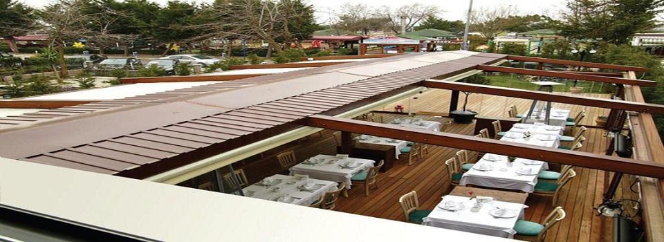 pergole acilir tavan Otomatik Katlanır Tavan Çatı Sistemi